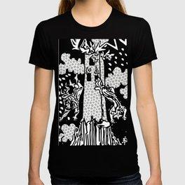 Modern Tarot Design - 16 The Tower T-shirt