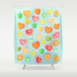 Juicy Hearts Shower Curtain
