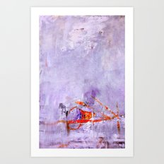 orange & dusty violet Art Print