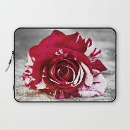Variegated Rose on Concrete Laptop Sleeve