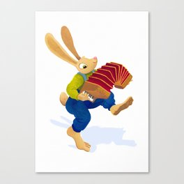 Rabbit with an accordion Canvas Print