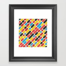 Colorful Trend Pattern Framed Art Print