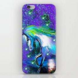 HORSE DANCING IN STAR LIGHT AND MOON DUST iPhone Skin