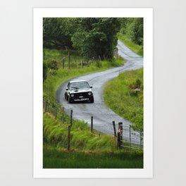 Car 84 Donegal International Rally 2018 Art Print