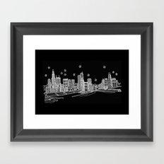 Chicago, Illinois City Skyline Framed Art Print