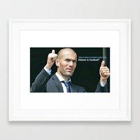 zidane Framed Art Prints featuring Zidane is Football by M Robim