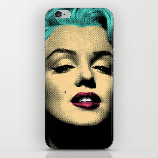 MARILYN BLUE iPhone Skin