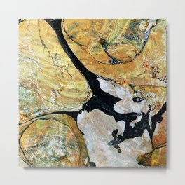 Molten Gold Abstract Metal Print