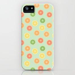 citrus fever II - citrus slices pattern iPhone Case