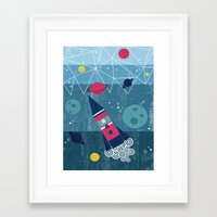 spaceship Framed Art Prints featuring Spaceship by Kakel