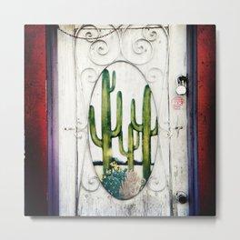 Cactus Door, Montreal Metal Print