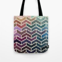 ikat Tote Bags featuring Chevron iKat by Steven Womack