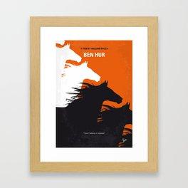 No989 My Ben Hur minimal movie poster Framed Art Print