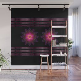 Abstract purple flower 06 Wall Mural