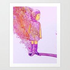 Flame doodle Art Print
