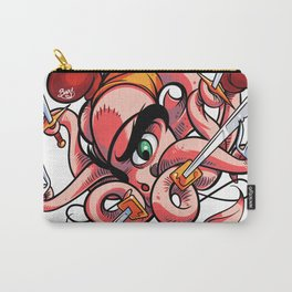 Fighting Octopus Carry-All Pouch