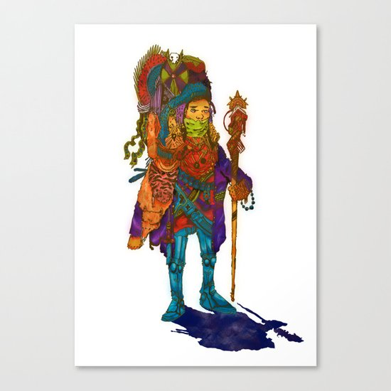 Nomad Funk Legs Robo Sandal Brother Canvas Print