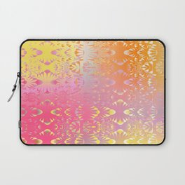 Happy Hippie Pattern (orange) Laptop Sleeve
