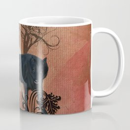 Awesome black and white wolf Coffee Mug