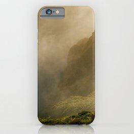 Dawn in Fogo crater iPhone Case