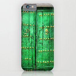 Green Patina Vintage Doorway Photograph iPhone Case