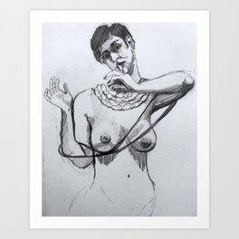 Shh. Art Print