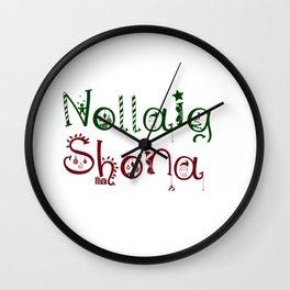 Nollaig Shona Wall Clock