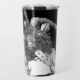 Baphomet Worships Baphomet Travel Mug