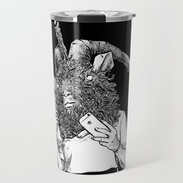 Baphomet Worships Baphomet Travel Mug