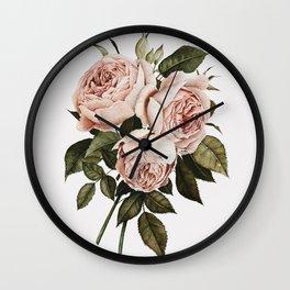Three English Roses Wall Clock