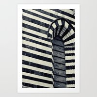 striped Art Prints featuring Striped by farsidian