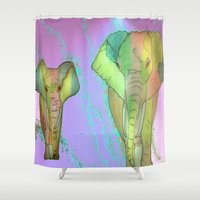 simba Shower Curtains featuring SIMBA by Laake-Photos