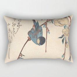 Blue Chickadee Rectangular Pillow
