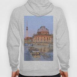 Berlin Spree Bode Museum and Alexander tower Hoody