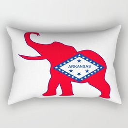 Arkansas Republican Elephant Flag Rectangular Pillow