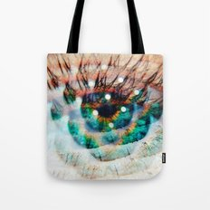 Green Eyes Hypnotize Tote Bag