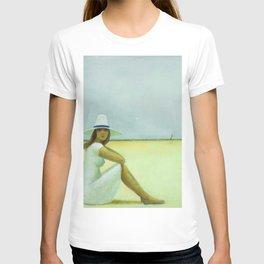A Plage Américaine beach coastal landscape painting by Jéanpaul Lemieux T-shirt