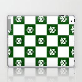 Winter - hunter green check - more colors Laptop & iPad Skin