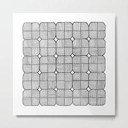 Black Squares Mosaic Metal Print