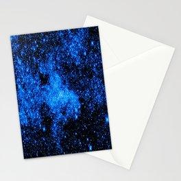 gALAXy Midnight Blue Stars Stationery Cards