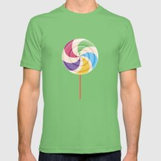 Colorful Lollipop Grass Mens Fitted Tee LARGE