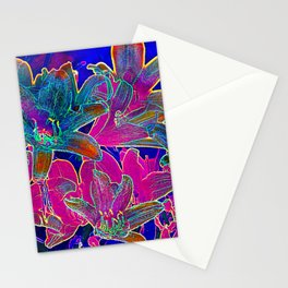 Color lilies  Stationery Cards