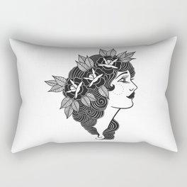 Pinup Profile Rectangular Pillow
