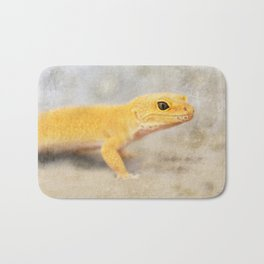 Portrait of a Leopard Gecko Bath Mat