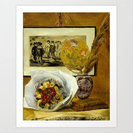 Still Life with Bouquet Art Print