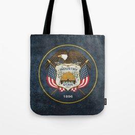 Utah State Flag, Vintage Version Tote Bag
