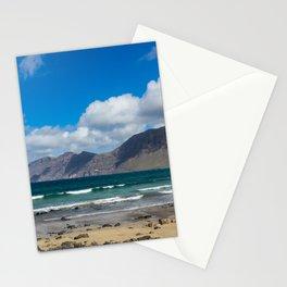Famara Beach, Lanzarote Stationery Cards