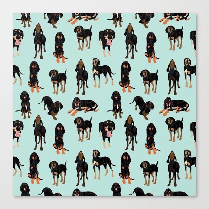 Black and Tan Coonhound Pattern Leinwanddruck
