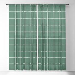 Grid Pattern Forest Green White 014421 Stripe Line Minimal Stripes Lines Spring Summer Sheer Curtain