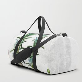 Cottage Style Rosemary, Hummingbird, Butterfly, Herbal Botanical Illustration Duffle Bag